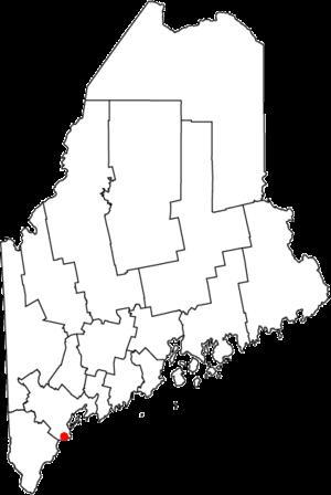 Higgins Beach - Image: Map of Maine highlighting Higgins Beach