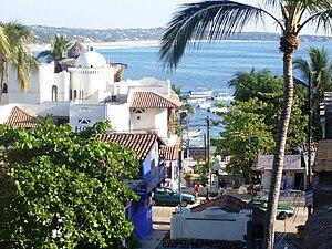 Puerto Escondido, Oaxaca - A view of the town