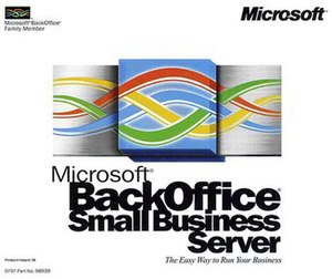 CD case cover for Microsoft BackOffice Small B...