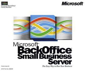 Microsoft BackOffice Server - Image: Microsoft Back Office Small Business Server 4 0 CD case