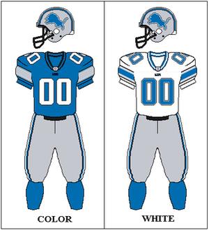 2003 Detroit Lions season - Image: NFCN 2003 2004 Uniform DET