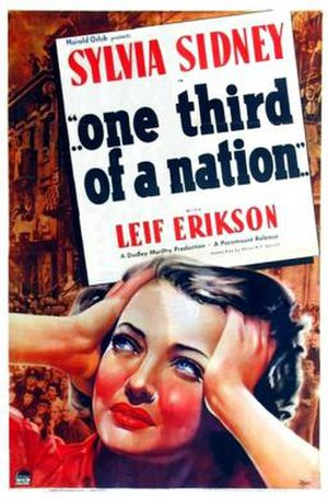 ...One Third of a Nation... - Theatrical release poster