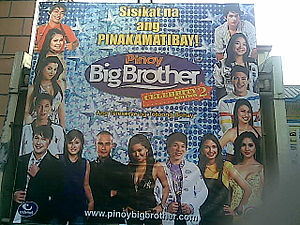 Pinoy Big Brother: Celebrity Edition 2 - A billboard advertisement of the second Celebrity Edition.
