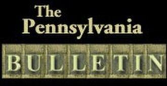 Pennsylvania Bulletin - Image: Pennsylvania Bulletin logo