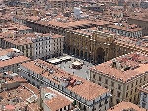 Piazza della Repubblica, Florence - The piazza as seen from Giotto's Campanile