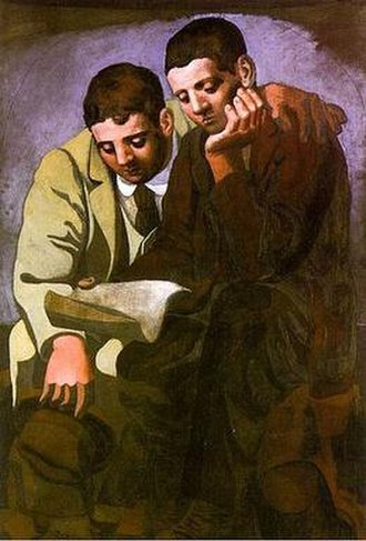 Reading the Letter (Picasso) - Image: Reading The Letter Picasso 1921 small