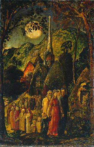 1830 in art - Image: Samuelpalmer Coming From Evening Church