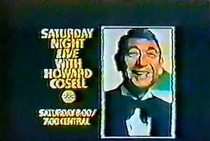 Saturday Night Live with Howard Cosell - Advertisement for Saturday Night Live with Howard Cosell