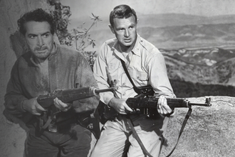 Fighter Attack - L-R: J. Carrol Naish and Sterling Hayden played the central characters in Fighter Attack.
