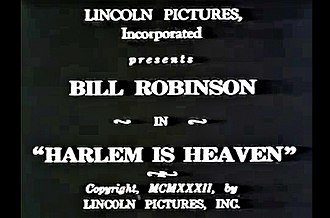 Harlem Is Heaven - Title card in opening screen credits for Harlem Is Heaven