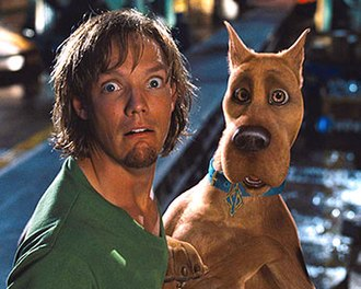 Shaggy Rogers - Matthew Lillard, seen here in character in the 2002 film, portrayed Shaggy in two films and has provided Shaggy's voice since 2010.