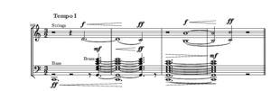 Symphony No. 7 (Sibelius) - Sibelius Symphony No. 7, conclusion (bars 522–525). Some parts omitted for clarity