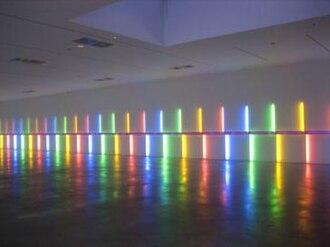 Dan Flavin - Site-specific installation by Dan Flavin, 1996, Menil Collection