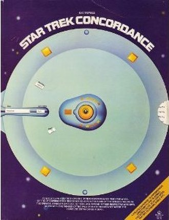 Star Trek Concordance - The moving wheel facilitates episode lookup