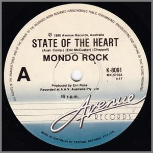 State of the Heart (song) - Image: State Of The Heart (Single Cover)