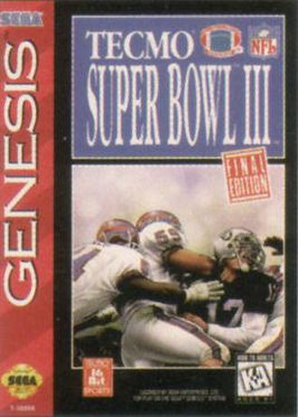 Tecmo Super Bowl III: Final Edition - Genesis box art