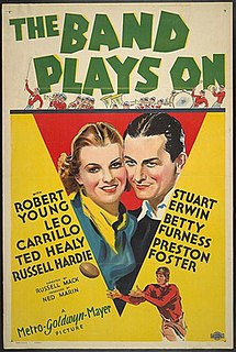 <i>The Band Plays On</i> (film) 1934 film by Russell Mack