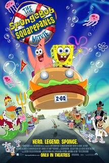 <i>The SpongeBob SquarePants Movie</i> 2004 animated/live action film directed by Stephen Hillenburg