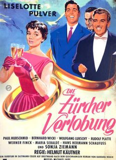 <i>The Zurich Engagement</i> 1957 West German comedy film directed by Helmut Käutner