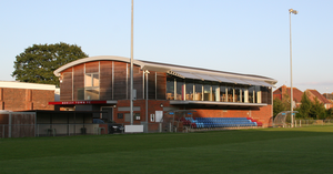 Horley Town F.C. - The New Defence clubhouse and main stand