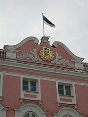 Toompea castle – the seat of the Parliament of the Republic of Estonia
