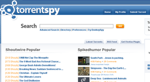 TorrentSpy - Image: Torrent Spy Screenshot