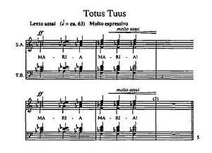 Totus Tuus (Górecki) - Score from the work