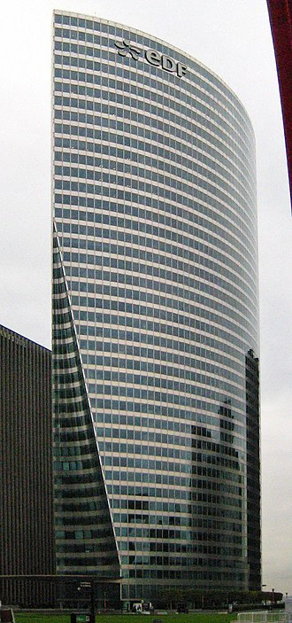 Électricité de France - EDF's headquarters in Tour EDF, La Défense, near Paris.