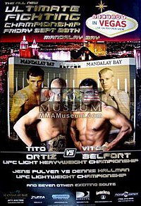 A poster or logo for UFC 33: Victory in Vegas.