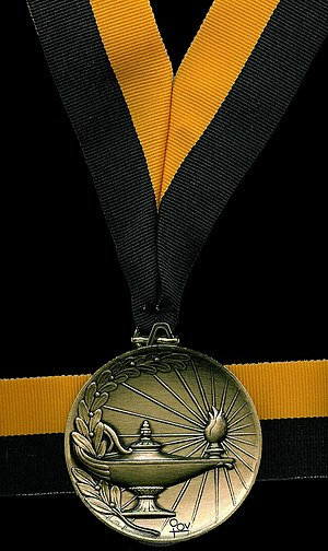 Del Mar High School - One of Del Mar's valedictorian medals.