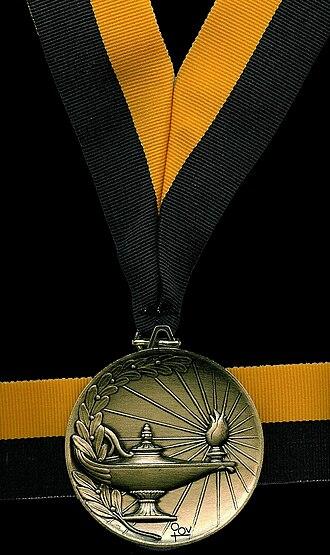 Del Mar High School - One of Del Mar's valedictorian medals.