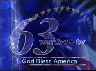 WMBC-TV - The station's logo used prior to 2006. This identification was seen from 2001 to 2006, after the September 11 attacks.