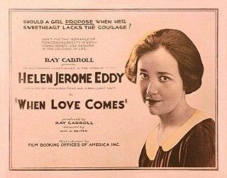 <i>When Love Comes</i> 1922 silent film