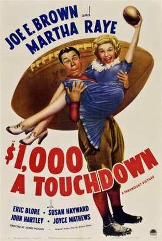 $1,000 a Touchdown - Theatrical release poster
