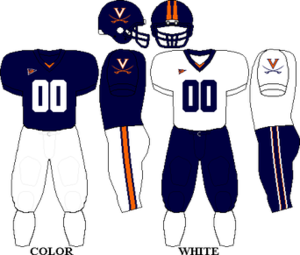 2007 Virginia Cavaliers football team - Image: ACC Uniform UVA 2006 2007,2009