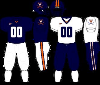 2007 Virginia Cavaliers football team - Image: ACC Uniform UVA 2006 2007,2009