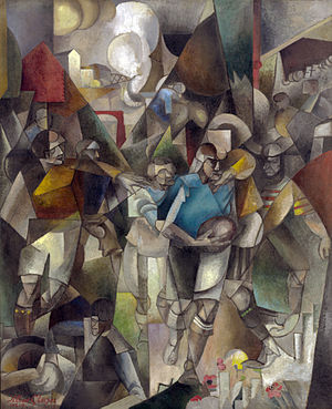 Les Joueurs de football - Image: Albert Gleizes, 1912 13, Les Joueurs de football (Football Players), oil on canvas, 225.4 x 183 cm, National Gallery of Art