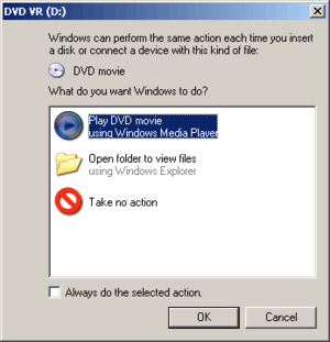 AutoPlay - AutoPlay on DVD insertion