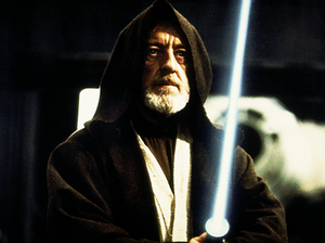 Obi-Wan Kenobi - Sir Alec Guinness as Kenobi in Star Wars: Episode IV - A New Hope.