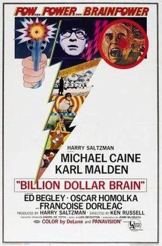 Billion Dollar Brain - original film poster