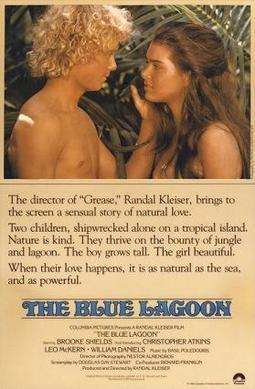 Blue lagoon 1980 movie poster