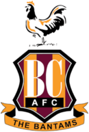 This image has an empty alt attribute; its file name is 130px-Bradford_City_AFC.png