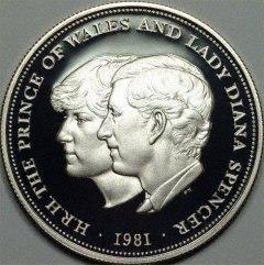 British coin 25p (1981) reverse