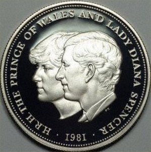 British twenty-five pence coin - Image: British coin 25p (1981) reverse
