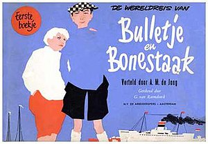 Dutch comics - Cover first comic booklet release of Bulletje en Boonestaak (1949)
