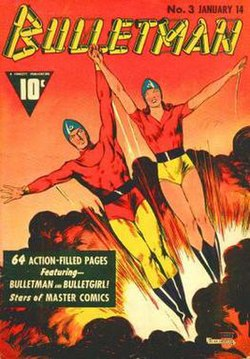 Cover of Bulletman #3 (1942). Art by Mac Raboy