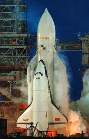 Buran (spacecraft) - Orbiter OK-1K1 Buran during launch on 15 November 1988