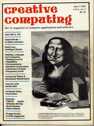 Creative Computing (magazine) - Image: Creative computing 1980 04 front