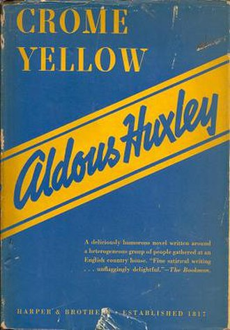 Crome Yellow - 1922 US edition