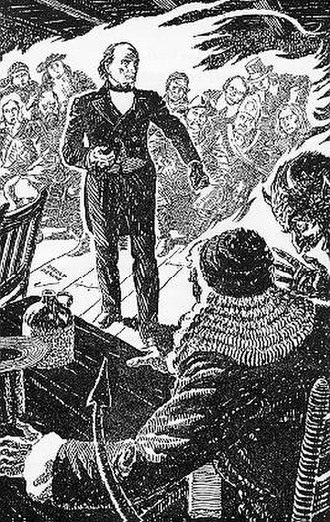 The Devil and Daniel Webster - Daniel argues while the devil whispers in the judge's ear.
